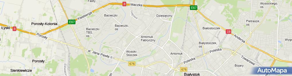 Zdjęcie satelitarne Studio Tańca Top Dance w Białymstoku