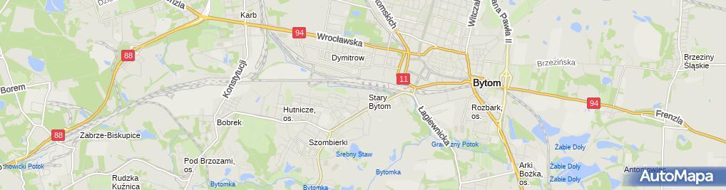 Zdjęcie satelitarne Studium Doskonalenia Zdolnośći Poznawczej Ziernicki Ryszard
