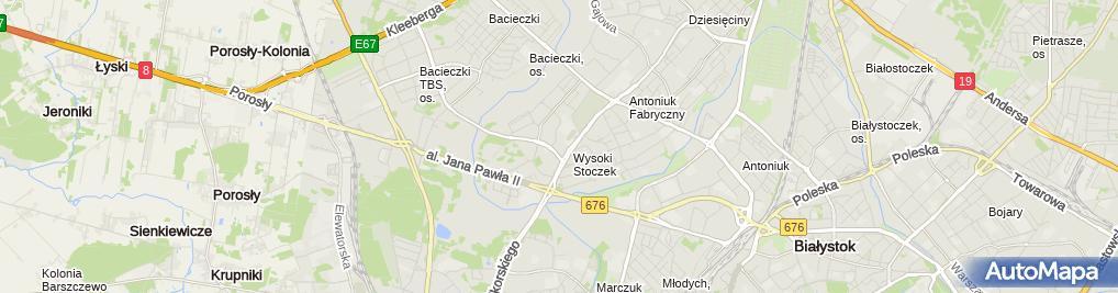 Zdjęcie satelitarne Suchowierski Krzysztof Handel Białystok