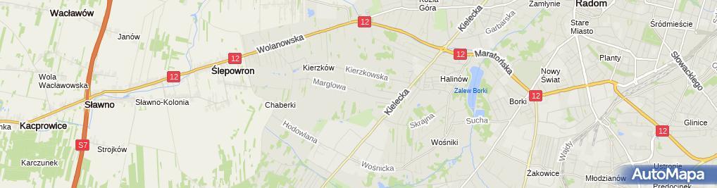 Zdjęcie satelitarne Sujka Piotr Gospodarstwo Ogrodnicze