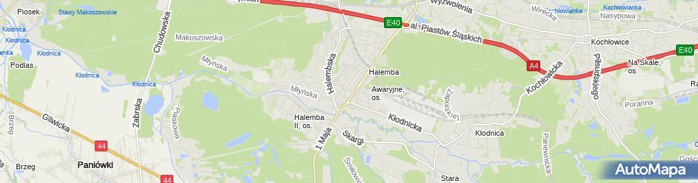 Zdjęcie satelitarne Szkoła Podstawowa nr 24 im Powstańców Śląskich