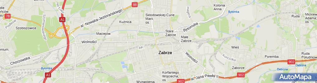 Zdjęcie satelitarne Szkoła Podstawowa nr 8 z Oddziałami Integracyjnymi im Janusza Ko