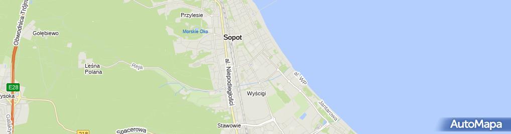 Zdjęcie satelitarne Szkoła Podstawowa z Oddziałami Integracyjnymi nr 8 im Jana Matejki w Sopocie