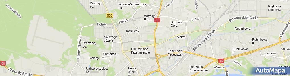 Zdjęcie satelitarne Szkolenia i Marketing Piotr Wiewiórka