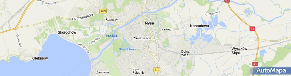 Zdjęcie satelitarne Szkolny Klub Sportowy Mechanik Nysa przy Zespole Szkół Mechanicznych