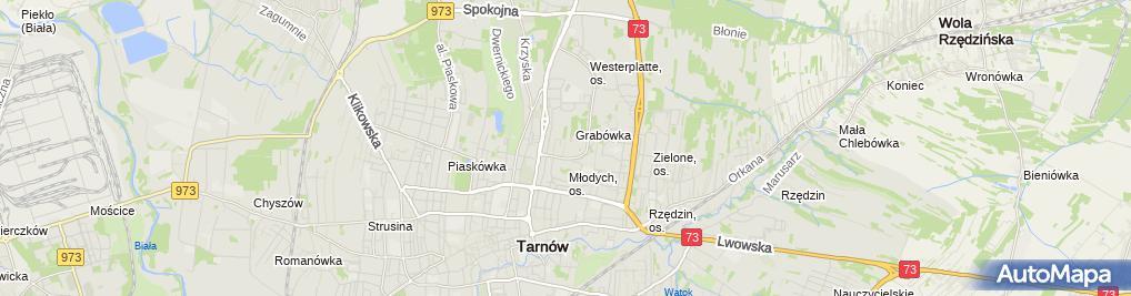 Zdjęcie satelitarne Tabor Cezary Wspólnik Spółki Cywilnej A C T Sport Cezary Tabor i Artur Tabor w Tarnowie