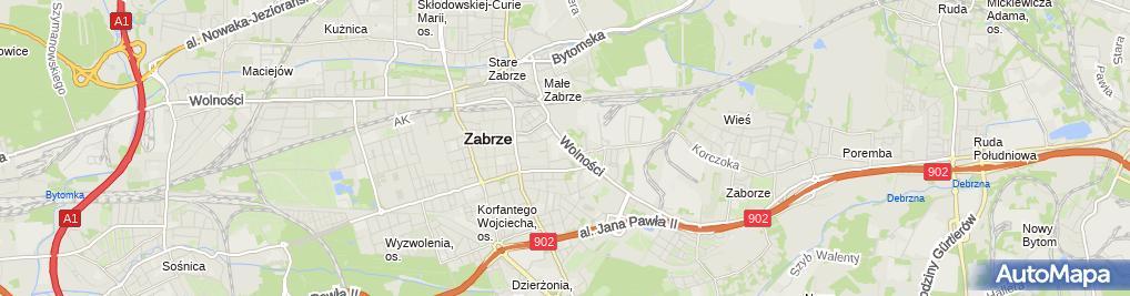 Zdjęcie satelitarne Taksówka Osobowa nr 1224