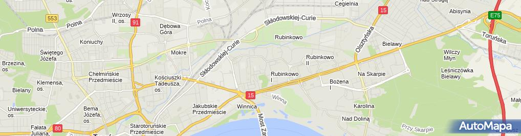 Zdjęcie satelitarne Taksówka Osobowa Robert Majewski