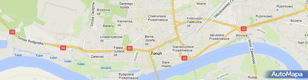 Zdjęcie satelitarne Targi Toruńskie Sp. z o.o.