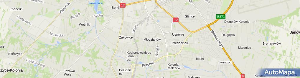 Zdjęcie satelitarne Taxi Osobowa 0164 Grzegorz Bednarczyk