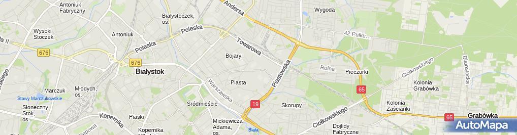 Zdjęcie satelitarne Taxi Osobowe Cieśluk Ryszard Cezary