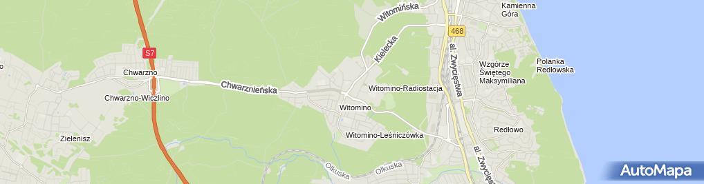 Zdjęcie satelitarne Taxi Osobowe Gdynia 1120
