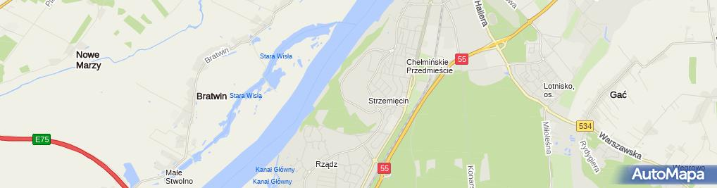 Zdjęcie satelitarne Taxi Osobowe Grażyna Karbowska
