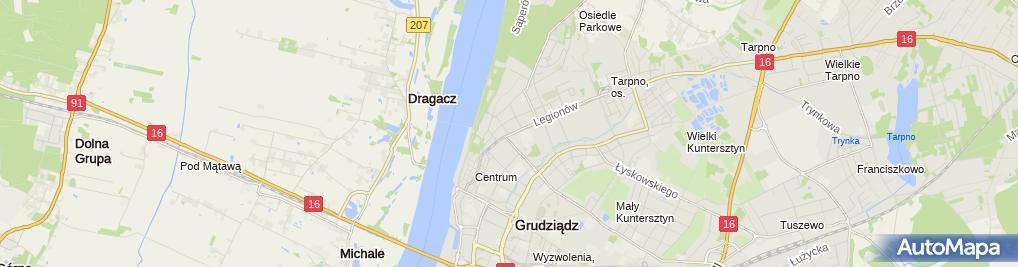 Zdjęcie satelitarne Taxi Osobowe Sławomir Melerski