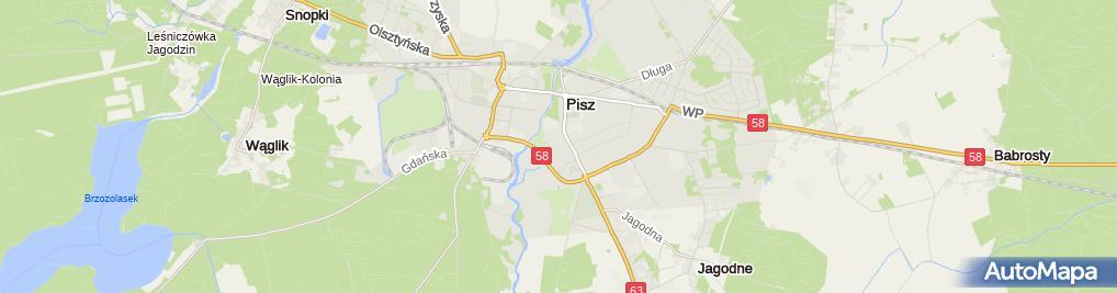 Zdjęcie satelitarne Taxi Przewóz Osób