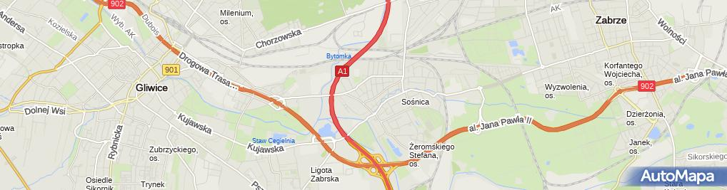 Zdjęcie satelitarne Taxi Rosada Przemysław Rosada