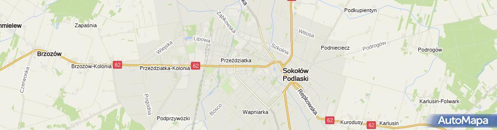 Zdjęcie satelitarne Telefony Podlaskie