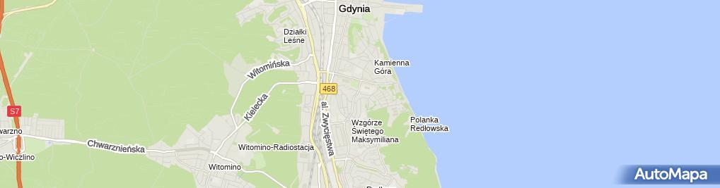 Zdjęcie satelitarne Tomasz Dzięgiel Zakład Elektromechaniczny Urzadzeń Sterujących i Alarmowych T Dzięgiel
