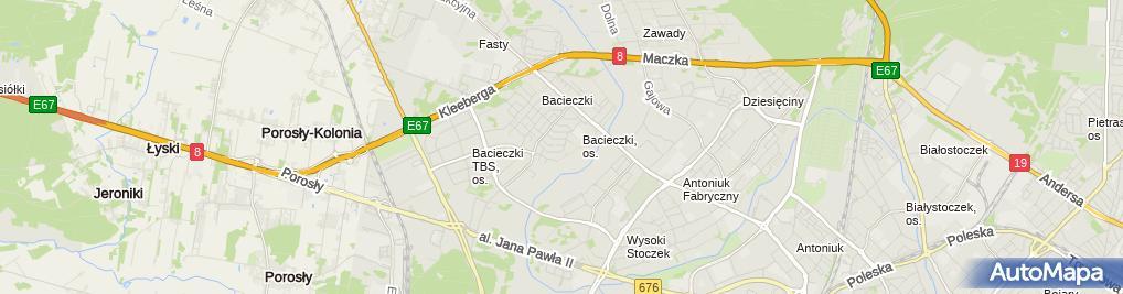 Zdjęcie satelitarne Tomasz Kazimieruk - Działalność Gospodarcza