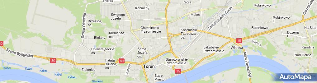 Zdjęcie satelitarne Tomasz Zimmer Firma Handlowo Usługowa Zimtom