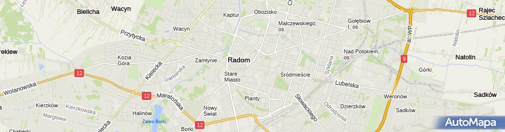 Zdjęcie satelitarne Tomir Przedsiębiorstwo Usługowo Handlowe