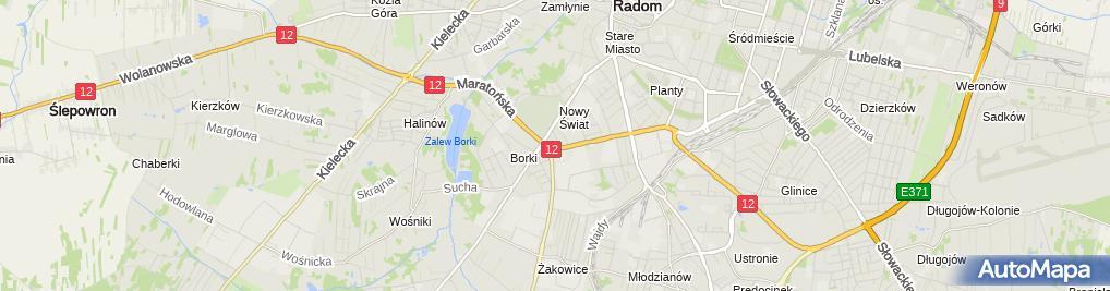 Zdjęcie satelitarne Transport Bagażowy Sławomor Sierzynski