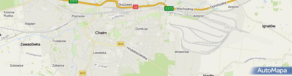 Zdjęcie satelitarne Transport Ciężarowy Kudyba Mariusz