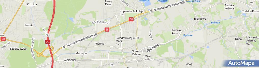 Zdjęcie satelitarne Transport Osobowy Taksówka