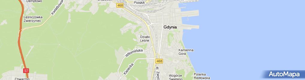 Zdjęcie satelitarne Tuja Farma Wiatrowa