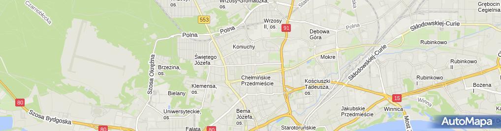 Zdjęcie satelitarne Twoje Biuro Ubezpieczeń Iwona Kędzierska