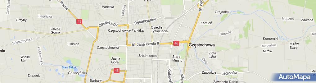 Zdjęcie satelitarne Ubezpieczenia Mariusz Morawski