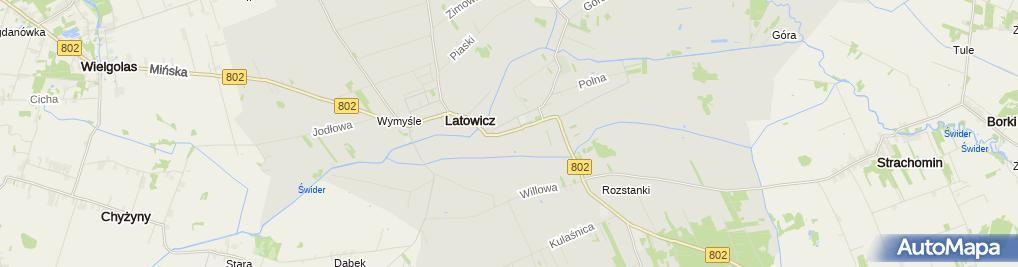 Zdjęcie satelitarne Ubezpieczenia Monika Gaszewska