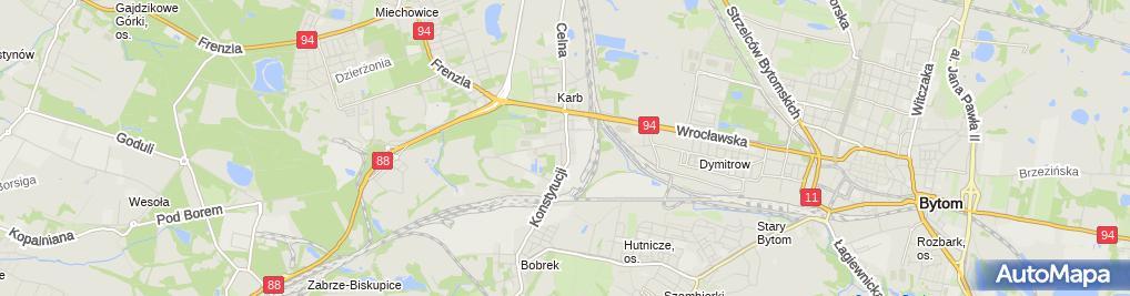 Zdjęcie satelitarne Uni Bar Piwniczka