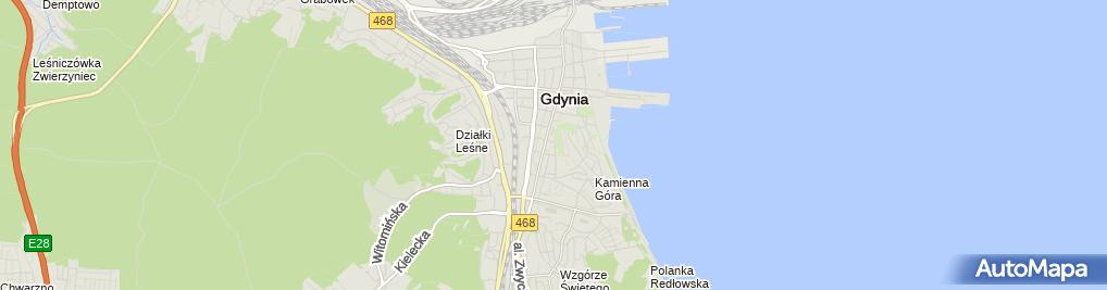 Zdjęcie satelitarne Unicorn Systems Ab z Siedzibą w Sztokholmie Oddział w Gdyni