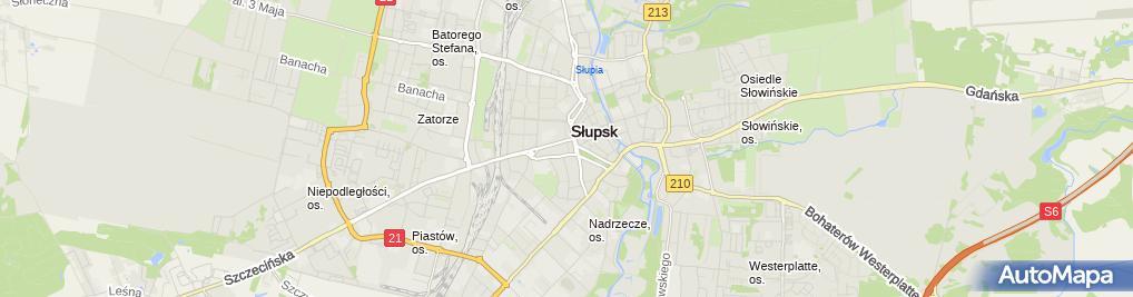 Zdjęcie satelitarne Urząd Miasta Słupska
