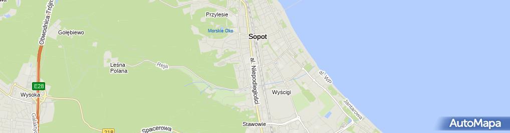 Zdjęcie satelitarne Usługi Biurowe od A do z Małgorzata Zięba Iwona Ćwiklińska