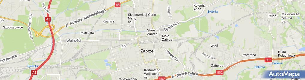 Zdjęcie satelitarne Usługi Biurowe