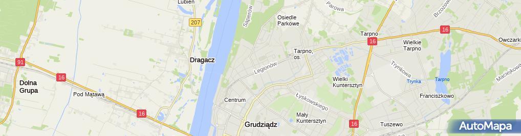 Zdjęcie satelitarne Usługi Edukacyjne EwaSKam Ewa Sało - Kamińska