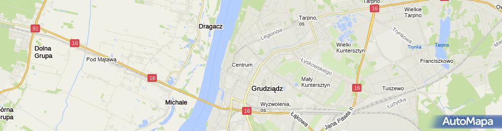 Zdjęcie satelitarne Usługi Fizjoterapeutyczne Małgorzata Zalewska