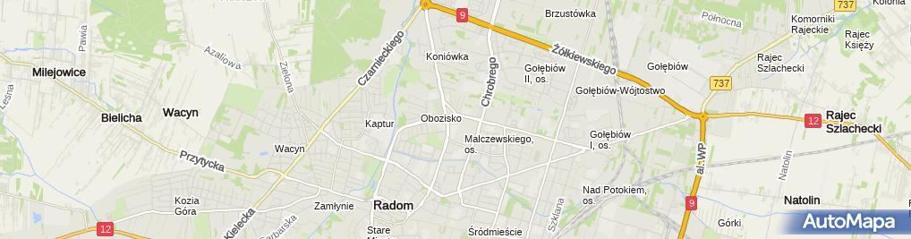 Zdjęcie satelitarne Usługi Geodezyjne Stanisław Biskup