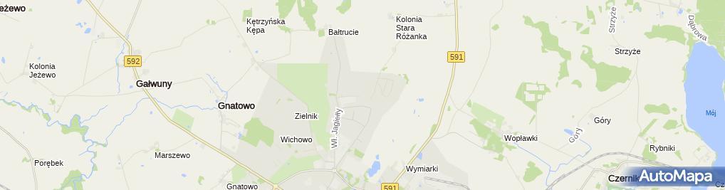 Zdjęcie satelitarne Usługi Geodezyjno Kartograficzne Józefowicz Marian