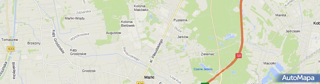 Zdjęcie satelitarne Usługi Hotelarskie Agnieszka Batogowska