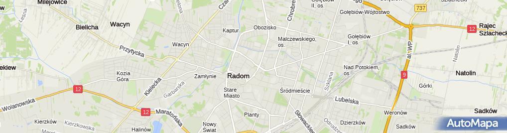 Zdjęcie satelitarne Usługi Marketingowe Pośrednictwo Handlowe Komis i Sprzed Okr P Wysocki