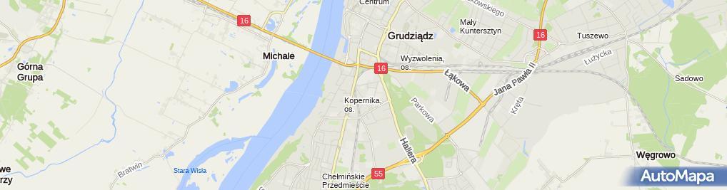 Zdjęcie satelitarne Usługi Medyczne R - Med Paweł Budysz