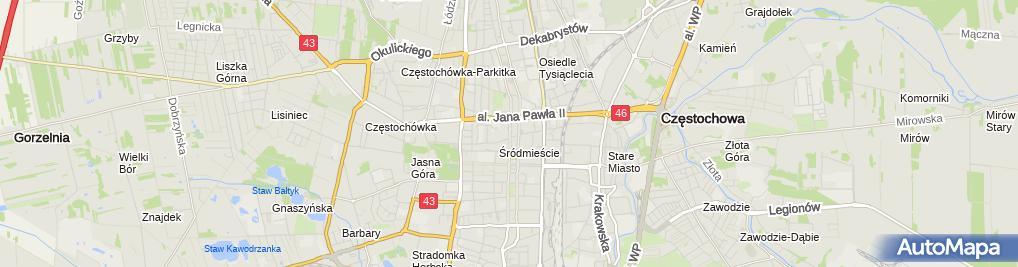 Zdjęcie satelitarne Usługi Parkingowe Walentyna Olejnik