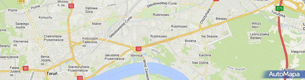 Zdjęcie satelitarne Usługi Pielęgniarskie Agnieszka Weber