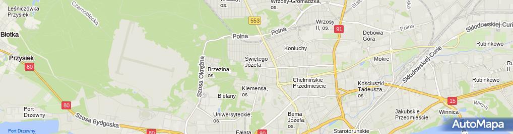 Zdjęcie satelitarne Usługi Pielęgniarskie Aleksandra Kaczyńska