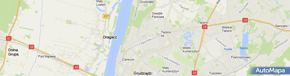 Zdjęcie satelitarne Usługi Pielęgniarskie Paulina Kowalkowska