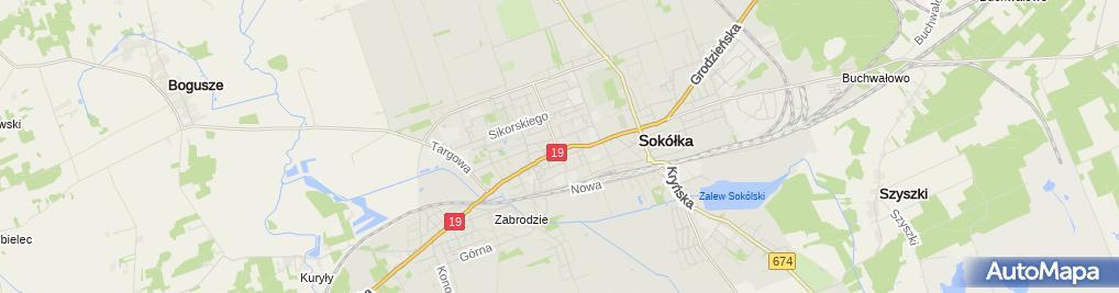Zdjęcie satelitarne Usługi Przewozowo Transportowe