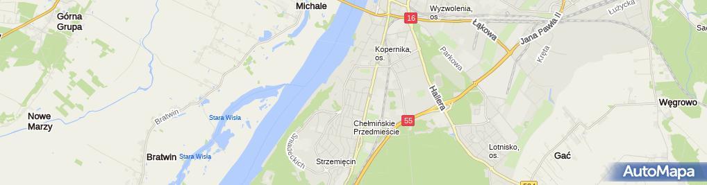 Zdjęcie satelitarne Usługi Ratownictwa Medycznego Michał Napora